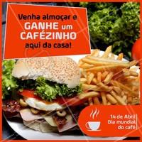 """""""Quem não ama um cafezinho, em? Bora garantir o seu! 😋 #ahazoutaste #food #diadocafe #delicia"""""""