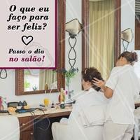 Melhor lugar não há! 😄 #salao #cabeleireiro #ahazou #felicidade