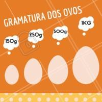 Gramatura dos ovos disponíveis para encomenda! Encomende já! #doces #ahazou #pascoa #ovodepascoa #gramatura
