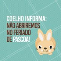 Informação importante! 🐰 #avisos #ahazou #pascoa #ahzpascoa #feriado