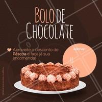 Encomende já o seu bolo de chocolate, nesta páscoa com valor promocional. Aproveite! 🎂 #bolo #ahzpascoa #pascoa #bolodechocolate