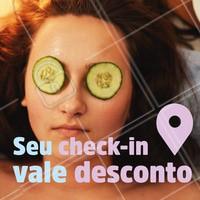 Ao fazer o check-in no nosso espaço e postar nas suas redes sociais, você ganha um desconto na sua próxima visita! 🤑 Agende seu horário e venha ficar mais linda com a gente! 😍 #esteticafacial #peleperfeita #ahazou #promocao