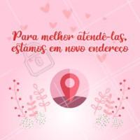 📣 Atenção clientes queridas,estamos de casa nova! Venha conhecer o nosso novo espaço! 💕 #beleza #ahazou #comunicado