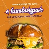 Não deixe sua vontade de hamburguer pra depois! Peça já o seu nessa terça-feira. 😋 #hamburguer #ahazoutaste #terça #hamburgueria