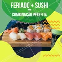 A junção de duas coisas perfeitas 🍣 #sushi #ahazoutaste #feriado