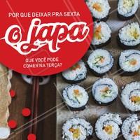 Não deixe sua vontade de japa pra depois! Peça já o seu nessa terça-feira. 😋 #japones #ahazoutaste #terça #comidajaponesa