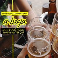 Não deixe sua vontade de breja pra depois! Chama os amigos e venham pra cá nessa terça-feira. 😋 #bares #ahazoutaste #terça #bar