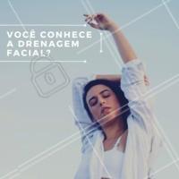 Começamos o dia com uma dica pra você: venha fazer drenagem facial. Ela deixa a pele mais firme, oxigena os tecidos e combate o envelhecimento. Só benefícios! #dicas #ahazouestetica