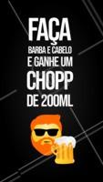 Não vai perder essa né? Agende agora o seu horário e venha tomar uma gelada! 🍻 #barbearia #ahazou #promocao