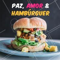 ✌️❤️🍔  #hamburguer #ahazoutaste #paz #amor