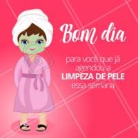 Bom dia queridas clientes! 💖 #limpezadepele #ahazou #esteticafacial