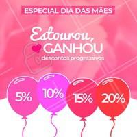 Aproveite esta promoção especial! Estoure o balão e ganhe um desconto especial! #promocao #ahazou #diadasmaes
