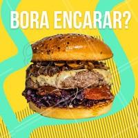 Bora? Hoje é dia de um belo burger! #ahazou #burger #deubom #hoje #comerbem