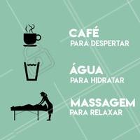 💦☕💆♀ Dicas para você manter uma #rotina saudável! #saude #massagem #relaxante #relax #massagemrelaxante #coffee #cafe #barista #agua #água #water #ahazou #dicas #dicasdobem #frases #frasesdobem #braziliangal