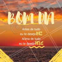 Esse é meu desejo para hoje! BOM DIA ❤️ #bomdia #ahazou #deus