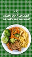 Bateu a fome por aí? Tá na hora de almoçar! #marmita #ahazoutaste #marmitaria