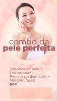 Agende seu horário agora mesmo e venha ficar com a pele perfeita! ✨ #ledterapia #limpezadepele #ahazou #esteticafacial