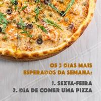 Sextou! É dia de pedir uma pizza 🍕 #Pizzaria #ahazoutaste #Pizza #sextafeira