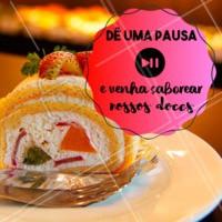 Que tal dar uma pausa na sua rotina? 🖐 #doceria #ahazoutaste #doces #brigadeiro