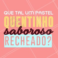 Hmmm bateu vontade? #pastel #ahazoutaste #pasteis