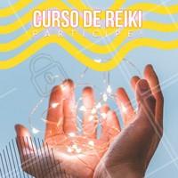 Reiki é uma forma de medicina alternativa e você tem a oportunidade de dominar essa técnica. Venha participar do curso! Entre em contato para mais informações #ahazou #reiki #curso #energia #vida