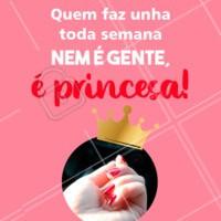 Com certeza! 💖 Quem concorda comenta aqui embaixo 👇 #unhas #manicure #ahazou #princesa #beleza