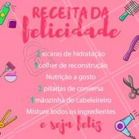 Melhor maneira de levantar o astral! 😍 #hidratacao #reconstrucao #nutricao #ahazou #cronogramacapilar #cabelo #salaodebeleza