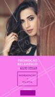 Aproveite esta super promoção e agende agora mesmo o seu horário! Vem ficar mais linda! 😍 #hidratacao #escova #ahazou #cabelo