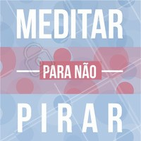 Meditar regularmente pode reduzir o #stress e diversos problemas de saúde associados a ele. Então: meditar para não pirar! Que tal começar hoje?😊 #Dica #inspiracao #ahazou #meditacao