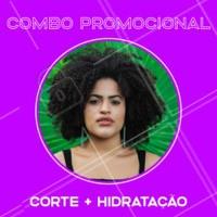 Aproveite esse combo e vem ficar linda! Você merece essa transformação. 😍 #corte #ahazou #hidrataçao #cabelo