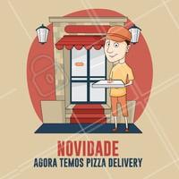 Peça já a sua pizza e aproveite nossa novidade! 🍕 #Pizzaria #ahazoutaste #pizza