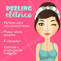 Olha só os benefícios do peeling elétrico ☝ Agende uma avaliação e experimente um tratamento revolucionário na prevenção do envelhecimento da pele! #esteticafacial #ahazou #peelingeletrico