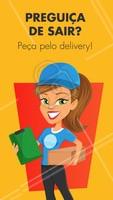 Bateu a preguiça? Peça já pelo delivery e receba sua comida no conforto da sua casa! #gastronomia #ahazoutaste #delivery #comida