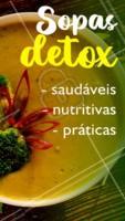 Sabor + saúde = sopas detox deliciosas e nutritivas, além de serem super práticas pro seu dia a dia. Não vai deixar de experimentar, né? ❤️ #sopa #ahazoutaste #caldos #sopadetox #saude #emagrecimento #fitness