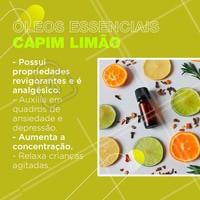 Você sabia que o óleo de capim limão tem todos esses benefícios?  #oleosessenciais #oleodecapimlimao #ahazou #bemestar