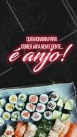 Marque aqui o seu anjo, que vai te levar para comer um japa! #ahazou #japones #comerbem #japa #comerjapa