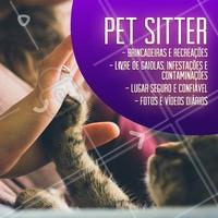 Conte com meu trabalho de Pet Sitter para cuidar do seu pet enquanto você viaja tranquilamente! Todos os recursos para que seu amiguinho sinta-se em casa. 🐾 #pet #ahazoupet #pets #petsitter
