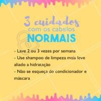 Atenção a estes cuidados especiais! Siga essas dicas, que é sucesso! #cabelonormal #ahazou #cabelo