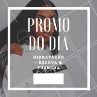Confira nossa promoção do dia!   Hidratação + Escova e Prancha por apenas R$  #promocao #ahazou #escovaeprancha #hidratação