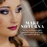 A Make noturna perfeita? Sim, nós fazemos! Agende seu horário  #makepranoite #ahazou #maquiagem