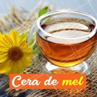 Este é um dos ingredientes mais tradicionais nas ceras. O mel é um componente que ajuda a clarear e hidratar a pele enquanto depila. As suas propriedades antissépticas também asseguram que a sensação de dor e desconforto seja reduzida, pois o mel é antisséptico e até cicatrizante. Este tipo de cera também se destaca por envolver melhor os pelos mais grossos e arrancá-los por inteiro. #cerademel #ahazou #depilacao #ceraquente