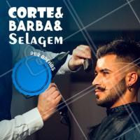 Aproveite a promoção especial da vez e já agende o seu horário para dar aquele tapa no visual! 😎 #cortemasculino #barbearia #ahazou #selagem #promocao