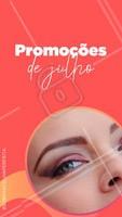 Chegou o mês de Julho e temos promoções incríveis pra você cuidar das suas sobrancelhas!  #julho #ahazou #promoções #sobrancelha