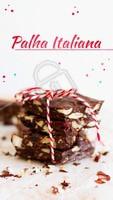 Definindo em uma palavra: Irresistível! Não deixe de experimentar a nossa palha italiana! #palhaitaliana #ahazoutaste #chocolate
