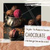 Se esse não for o melhor dia do ano eu não sei qual é! #chocolate #ahazoutaste #diadochocolate