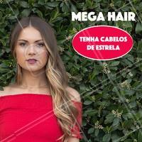 Quer dar um up no visual e ficar com um cabelão digno de diva? Eu tenho a solução perfeita para você! Agende seu horário! #megahair #ahazou #cabelo