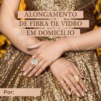 Agende já o seu horário para ficar com as unhas impecáveis! #alongamentodeunhas #ahazou #fibradevidro #atendimentoemdomicilio