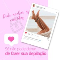 As curtidas não devem ser uma prioridade na sua vida, mas uma pele lisinha, sim! 💖 Agende seu horário! #depilacao #ahazou #curtidas #likes #engracado
