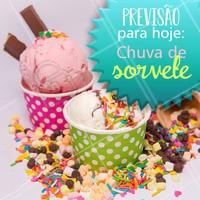 Só eu que queria uma chuva dessas? 😂 #sorvete #ahazoutaste #chuva #engracado