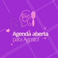 Comece o mês com cabelos de diva! A agenda de Agosto já está aberta. 💇 #cabelo #ahazou #agosto #agenda